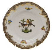 Rothschild Bird Brown Border BREAD & BUTTER PLATE - MO 09 6