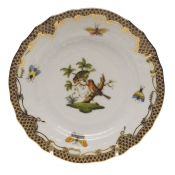 Rothschild Bird Brown Border BREAD & BUTTER PLATE - MO 10 6