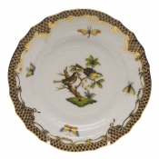 Rothschild Bird Brown Border BREAD & BUTTER PLATE - MO 11 6