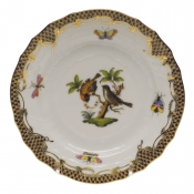 Rothschild Bird Brown Border BREAD & BUTTER PLATE - MO 12 6