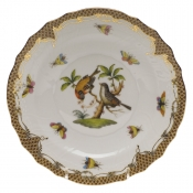 "Rothschild Bird Brown Border SALAD PLATE - MOTIF 12 7.5""D"