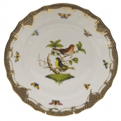 "Rothschild Bird Brown Border DINNER PLATE - MOTIF 03 10.5""D"