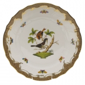 "Rothschild Bird Brown Border DINNER PLATE - MOTIF 04 10.5""D"