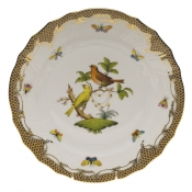 "Rothschild Bird Brown Border DINNER PLATE - MOTIF 06 10.5""D"