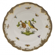 "Rothschild Bird Brown Border DINNER PLATE - MOTIF 07 10.5""D"