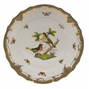 "Rothschild Bird Brown Border DINNER PLATE - MOTIF 08 10.5""D"