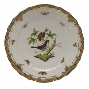 "Rothschild Bird Brown Border SERVICE PLATE - MOTIF 04 11""D"