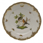 "Rothschild Bird Brown Border SERVICE PLATE - MOTIF 10 11""D"