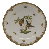 "Rothschild Bird Brown Border SERVICE PLATE - MOTIF 12 11""D"