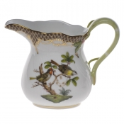 "Rothschild Bird Brown Border CREAMER  (6 OZ) 3.5""H"