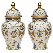 Herend Covered Urn w/ Button Finial Reserve Collection