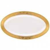 Trianon Gold  Relish Dish Or Sauce Boat Tray