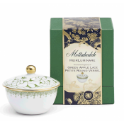 Mottahedeh Green Apple Lace Petite Round Candle Box