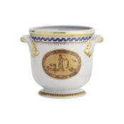 Mottahedeh Chinoise Blue Cachepot - Small