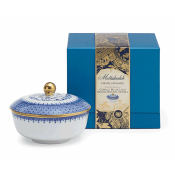 Mottahedeh Cobalt Blue Lace Grand Round Candle Box