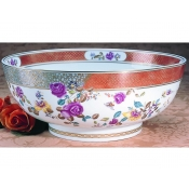 Mottahedeh Famille Rose Round Punch Bowl