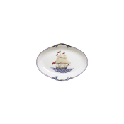 Mottahedeh American Constitution Ship Oval Tray