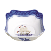 Mottahedeh American Constitution Ship Small Square Bowl
