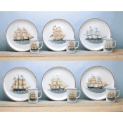 Mottahedeh American Ship Luncheon Plates - Set of 6