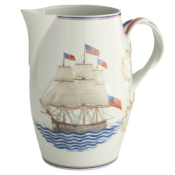 Mottahedeh American Constitution Ship Open Cider Jug