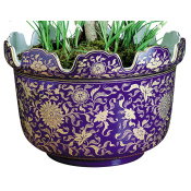 Mottahedeh Blue & Gold Monteith Planter