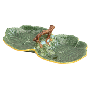 Mottahedeh Leaf Plate with Nuts Double
