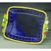 Mottahedeh Majolica Cobalt Blue Square Tray