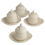 Mottahedeh Saucers ( Only) for Pot A Creme - Set of 4