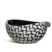 LaDorada Bone Domino Serving Bowl