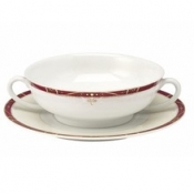 Scala Red Gold Filet  Cream Soup Saucer