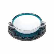 Dhara Peacock Cream Soup Saucer