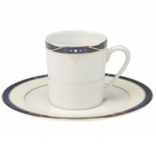 Scala Blue Gold Filet  Coffee Saucer