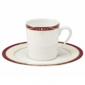 Scala Red Gold Filet  Coffee Saucer