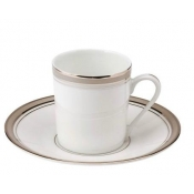 Excellence Grey  Coffee Saucer