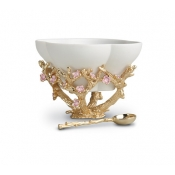 L'Objet Blossoms Bowl Salt Cellar + Spoon