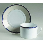 Scala Blue Gold Filet  Breakfast Saucer