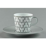 Silver Large Coffee Saucer