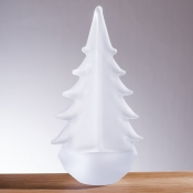 Simon Pearce Vermont Frosted Evergreen - 10""