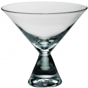 Clear Stemless Martini