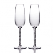 Simon Pearce Stratton Flutes - Set of 2