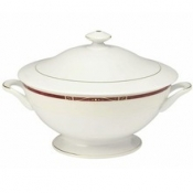 Scala Red Gold Filet  Footed Soup Tureen With Lid