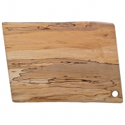 Spaulted Maple Rectangular Serving Boards / Hole Handle 18 Inch