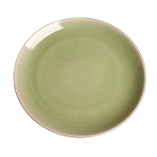 Kim Seybert Porcelain Crackle Spearmint Dinner Plate - Set 4