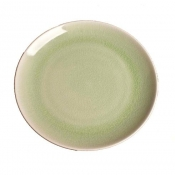 Kim Seybert Porcelain Crackle Spearmint Dessert Plate - Set 4