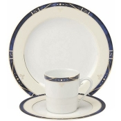 Scala Blue Gold Filet  Tea Saucer