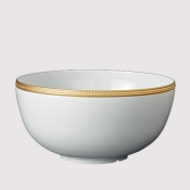 Soie Tressee Gold Serving Bowl