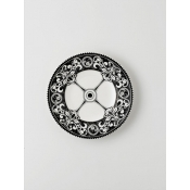 Steam Punk Black w/ White Bread & Butter Plate