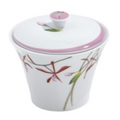 Exotica Pink  Covered Sugar Bowl
