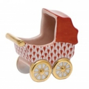 Herend Baby Carriage Rust