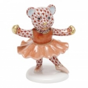 Herend Ballerina Bear Rust